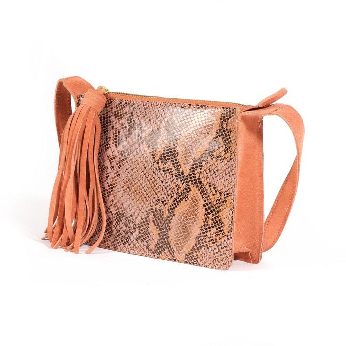 La Redoute Petit sac en cuir, fa?on reptile