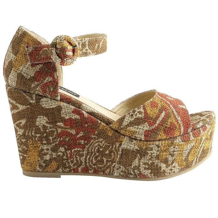Chaussures compensées maya multicolore Exclusif Paris