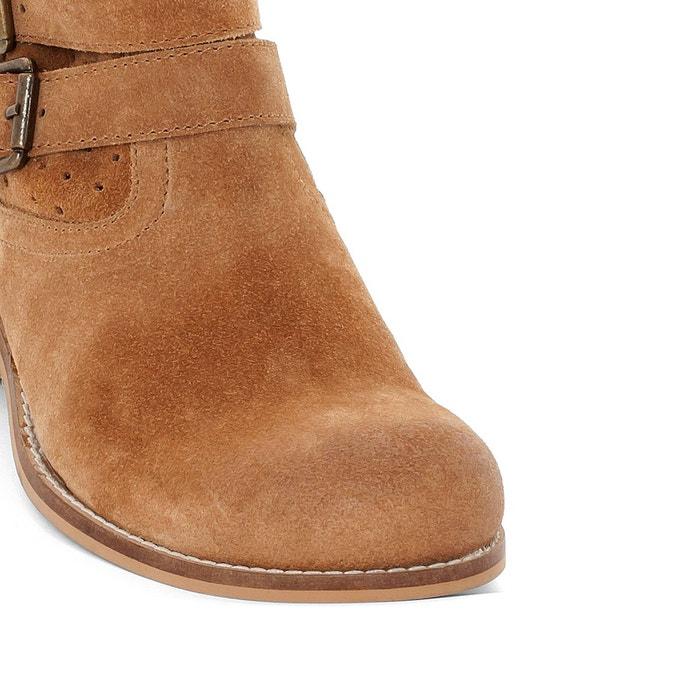 Bottines cuir boontie camel Kickers