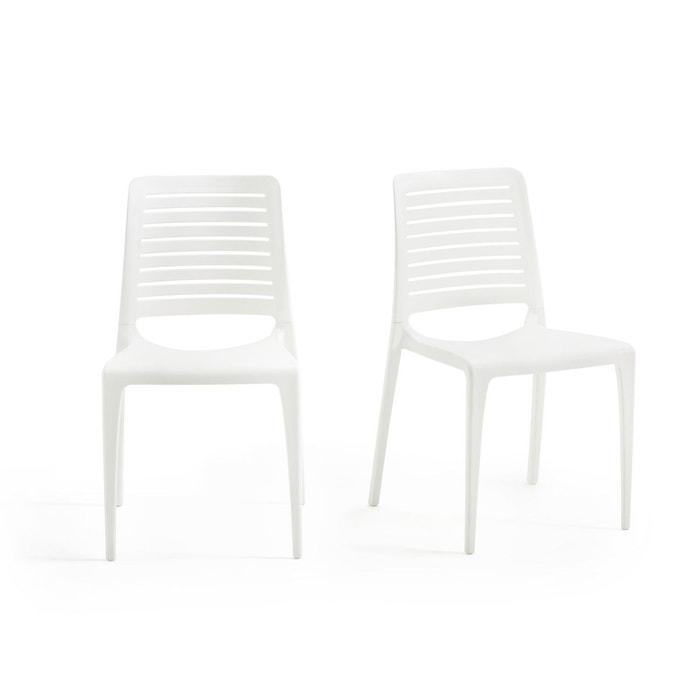 chaise de jardin lumbee lot de 2 blanc la redoute interieurs la redoute. Black Bedroom Furniture Sets. Home Design Ideas