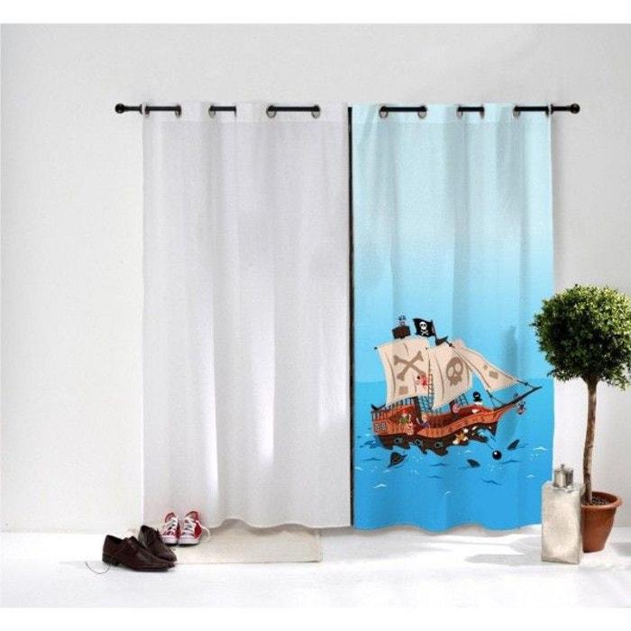 rideau enfant bateau pirate multicolore decoloopio la redoute. Black Bedroom Furniture Sets. Home Design Ideas