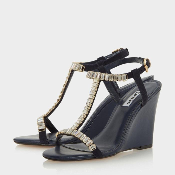Sandales compensées style salomé ornées de bijoux fantaisie - maitai Dune London