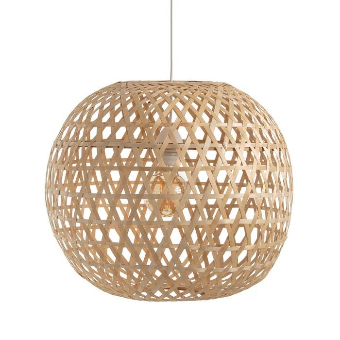 suspension boule bambou cordo naturel la redoute interieurs la redoute. Black Bedroom Furniture Sets. Home Design Ideas