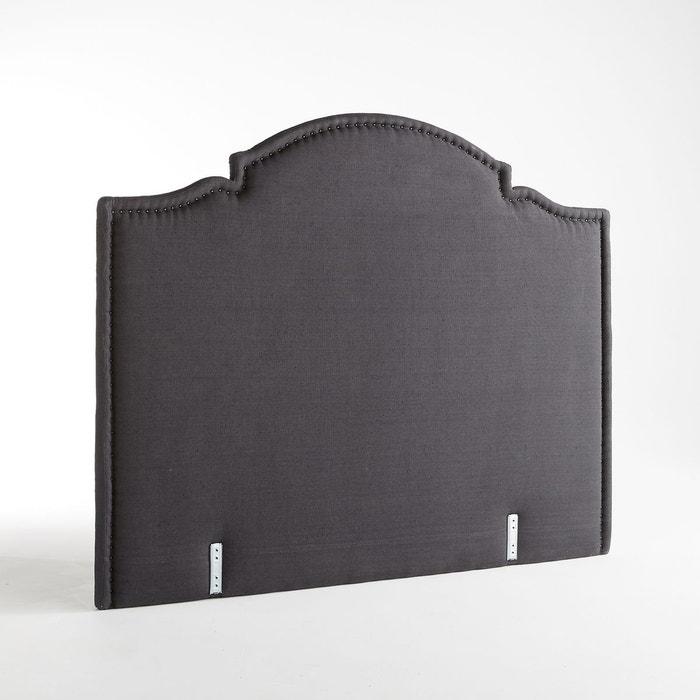 t te de lit capitonn e lin lav noto charcoal am pm la. Black Bedroom Furniture Sets. Home Design Ideas