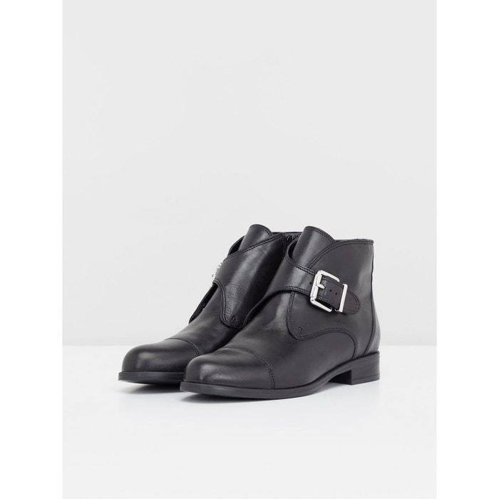 Bottes chaussures habillé à boucle black Bianco