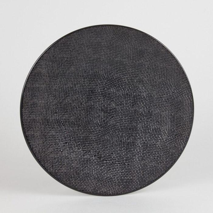 assiette plate 27 cm vesuvio noir lot de 6 noir table passion la redoute. Black Bedroom Furniture Sets. Home Design Ideas