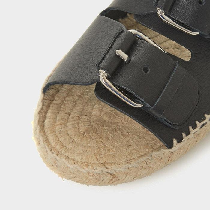 DUNE boucles à Sandales enfiler BLACK deux style LUSO espadrilles avec TTOq7wx