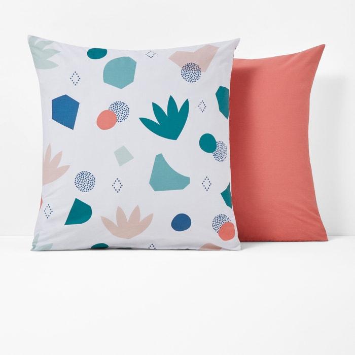 SYBILLE Reversible Printed Cotton Pillowcase  La Redoute Interieurs image 0