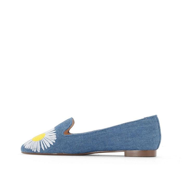 Ballerines détail marguerites bleu denim La Redoute Collections