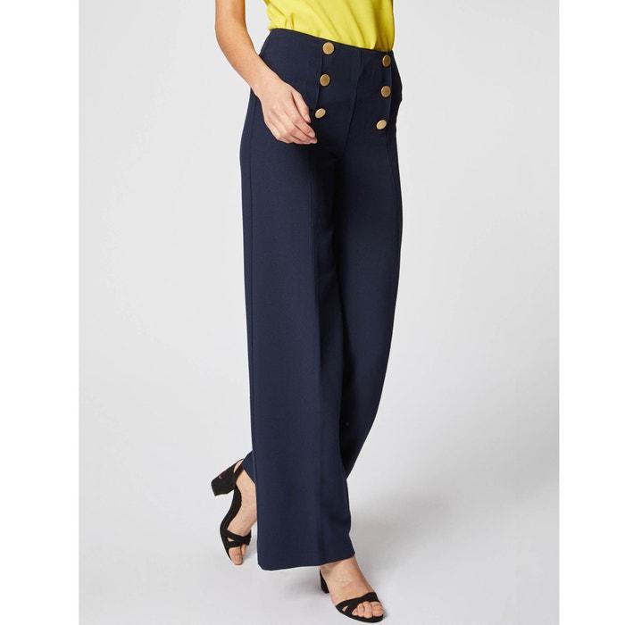 bc0c29012e5 Buttoned high waist wide leg trousers