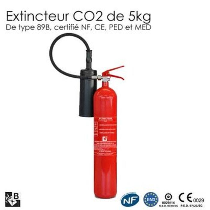Extincteur co2 5kg b nf couleur unique securite good deal for Alarme maison securite good deal