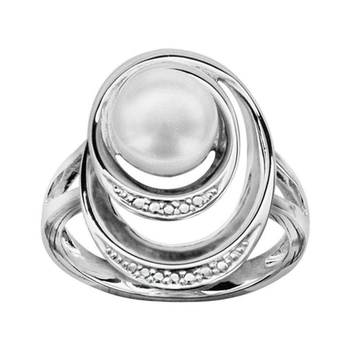 Bague femme spirale perle d'eau douce blanche argent 925 couleur unique So Chic Bijoux   La Redoute Wiki Sortie b3xnNwFLt