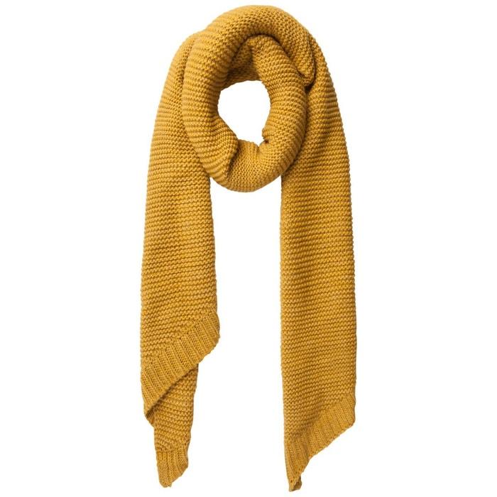 Écharpe laine unie Pieces   La Redoute 480cc7e7039b