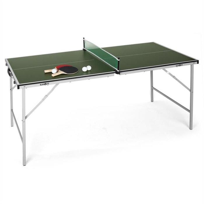 mini table de ping pong pliable verte autre klarfit la redoute. Black Bedroom Furniture Sets. Home Design Ideas