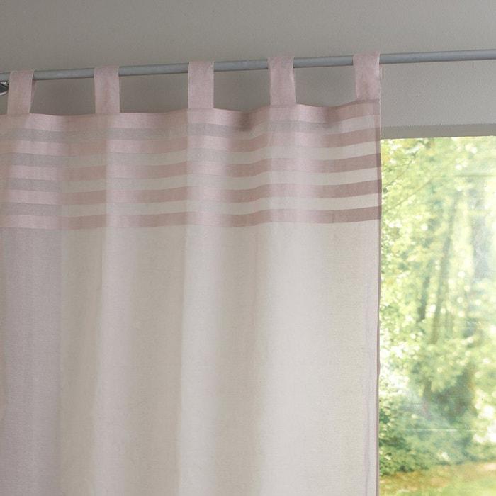 voilage pur coton pattes bardera rose p le la redoute. Black Bedroom Furniture Sets. Home Design Ideas