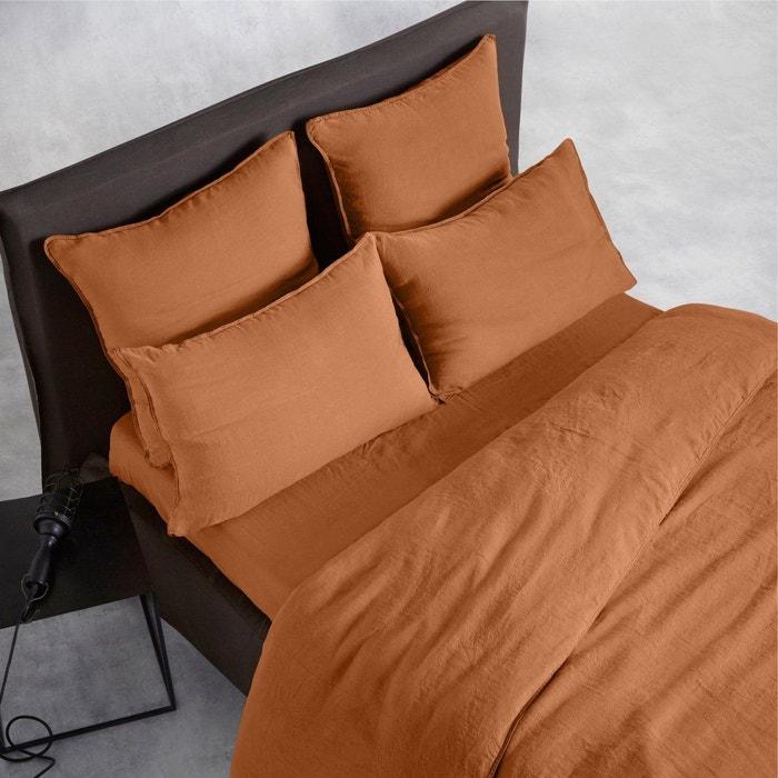 housse de couette chanvre lav helm muscade am pm la redoute. Black Bedroom Furniture Sets. Home Design Ideas