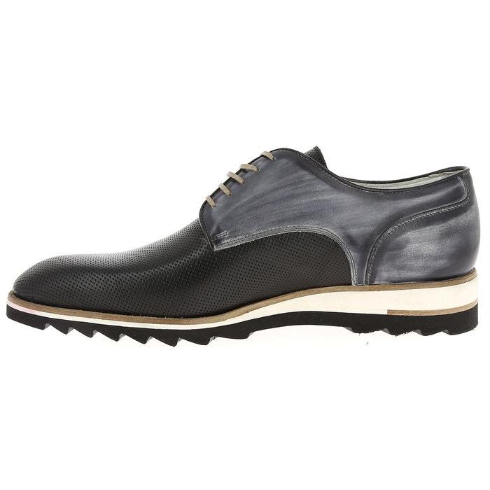 Chaussures à lacets flecs h673 692 noir, gris Flecs