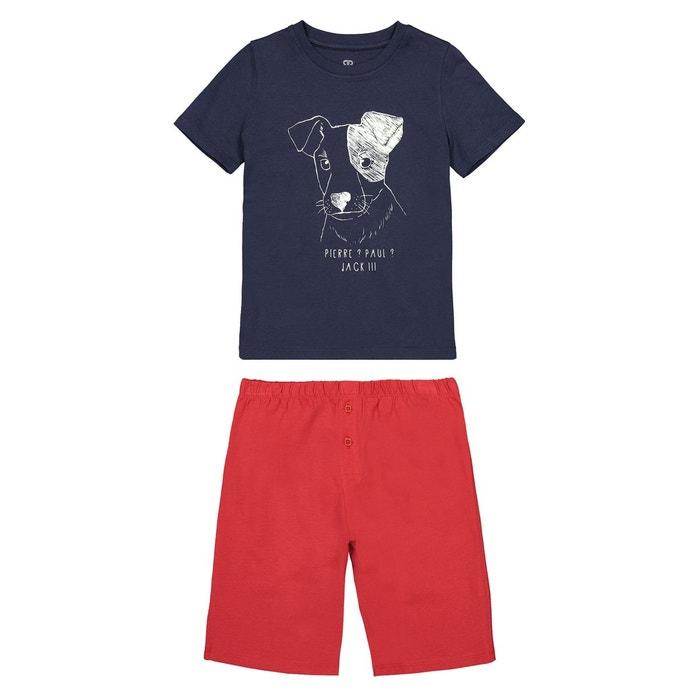 3d438cdcea397 Pyjashort imprimé phosphorescent 3 ans - 12 ans bleu marine La Redoute  Collections | La Redoute