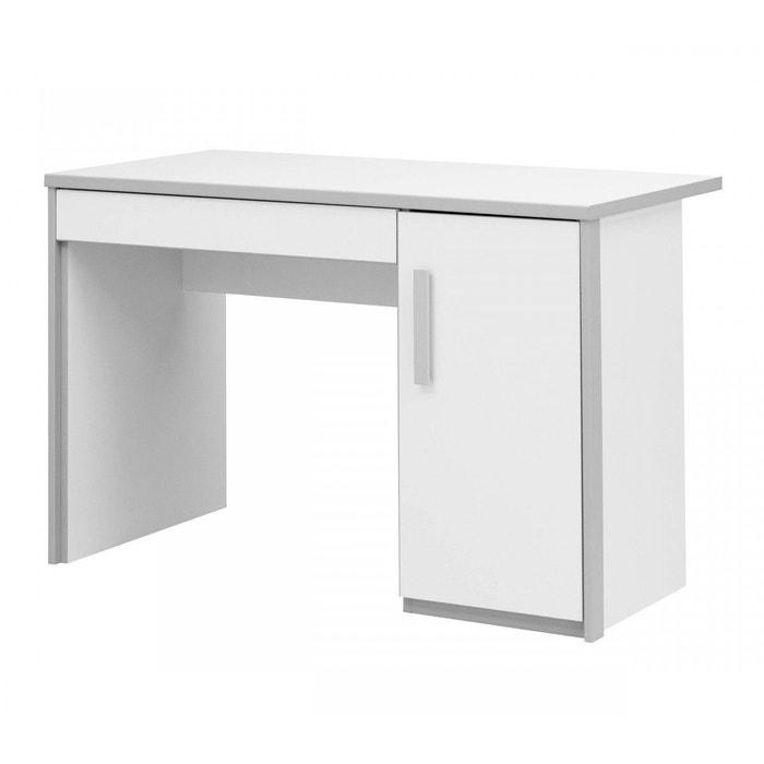 bureau enfant blanc et gris bu5006 terre de nuit blanc. Black Bedroom Furniture Sets. Home Design Ideas