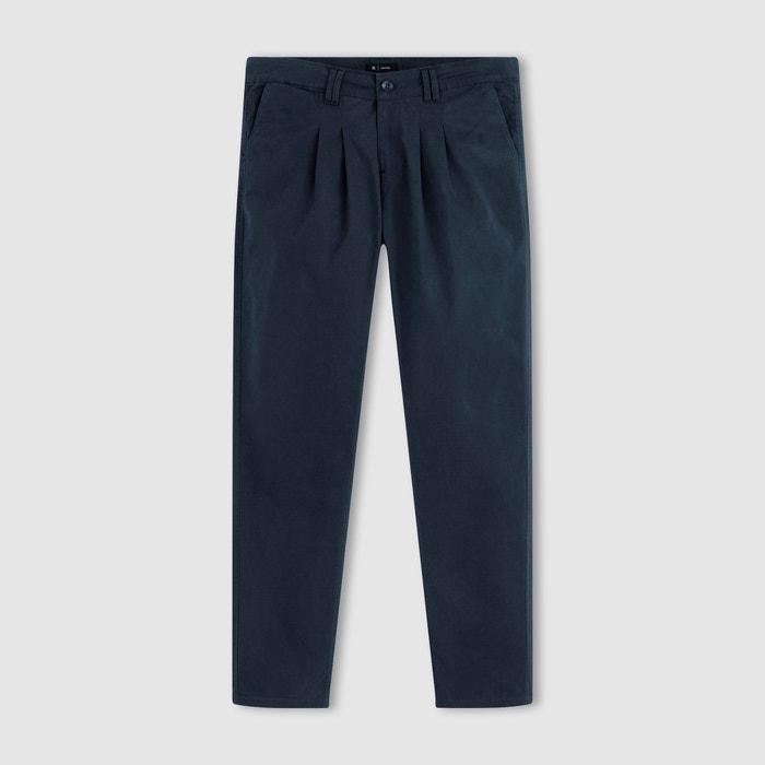 afbeelding Chino broek met plooien in stretch katoen R essentiel