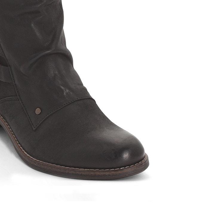 frapper les les les bottes en cuir noir, kickers f04e78