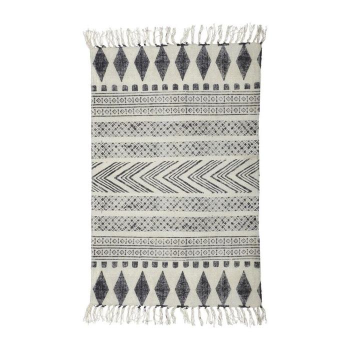 tapis graphique noir et blanc tapis house doctor la redoute. Black Bedroom Furniture Sets. Home Design Ideas