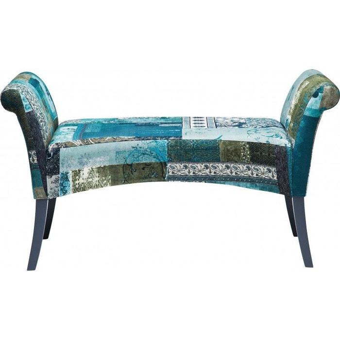 Banc Tissu Motley Patchwork Bleu Vert Kare Design Multicolore Kare