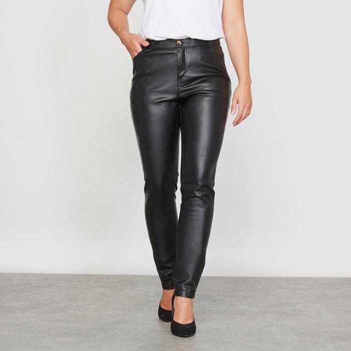 Image Slim Fit Faux Leather Trousers CASTALUNA