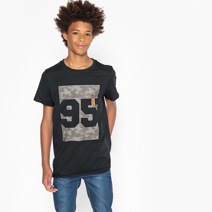 T-shirt largo scollo rotondo fantasia 10-16 anni  La Redoute Collections image 0