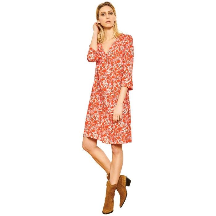 ba7a09f90aae Robe courte fleurie orange studio la redoute jpg 641x641 Robe courte fleuri