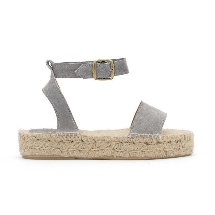 Sandale susan gris Polka Shoes La Redoute SVZ7957O -  pharmacie-du-centre-crepy-en-valois.fr fd8a48877589