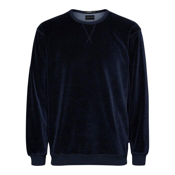 sweat shirt velours selected homme la redoute. Black Bedroom Furniture Sets. Home Design Ideas