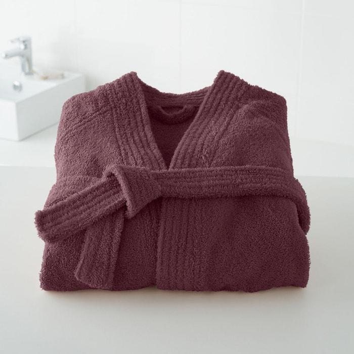 18170ba9cd99e Peignoir éponge col kimono 450g/m² figue La Redoute Interieurs   La Redoute
