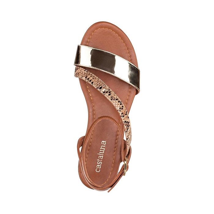 Sandales métallisées pied large 38-45 python Castaluna