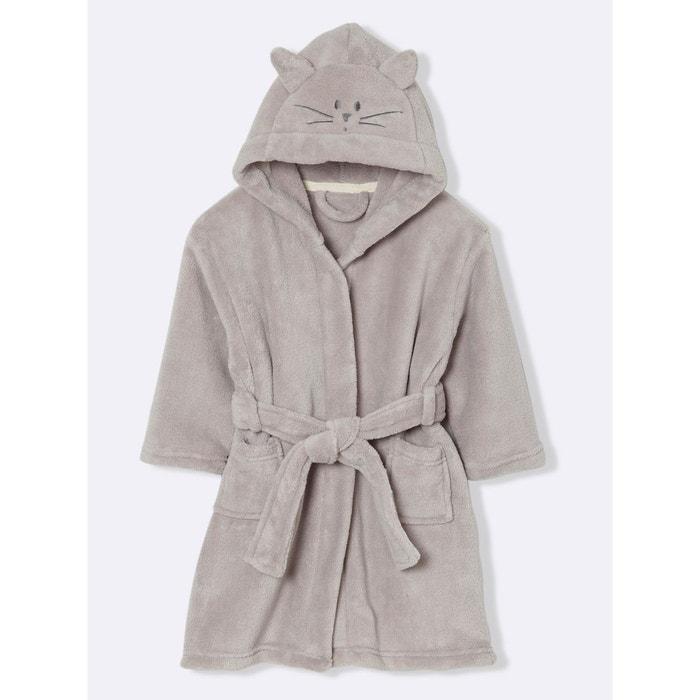 85ff75fff7d69 Robe de chambre enfant polaire chat Cyrillus