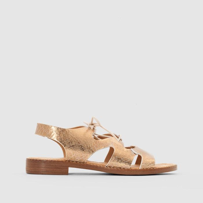 Sandaletten, metallisiertes Leder, Schnürung  TAMARIS image 0