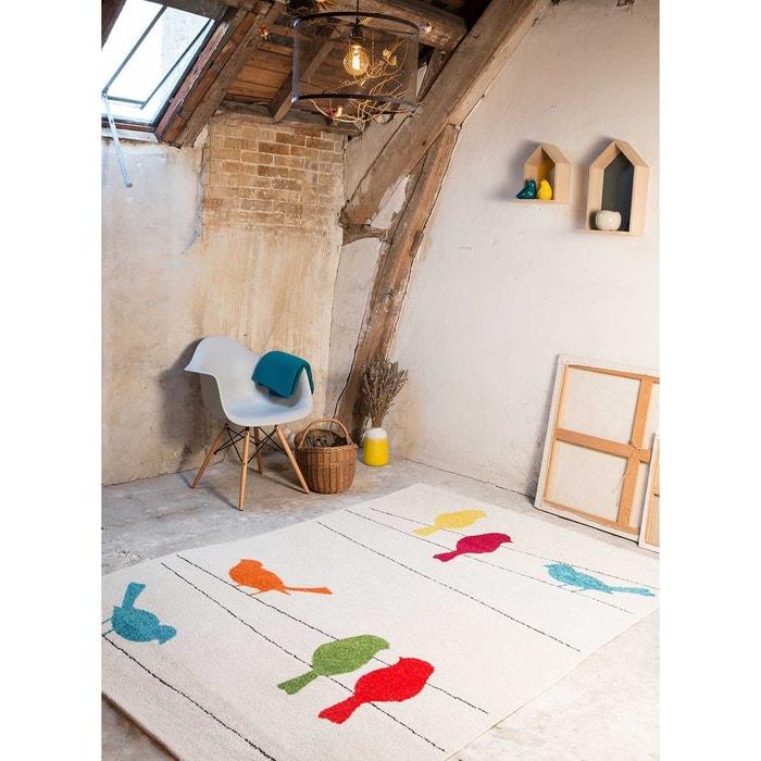 tapis tweet blanc tapis enfants 100 x 150 cm blanc art for. Black Bedroom Furniture Sets. Home Design Ideas