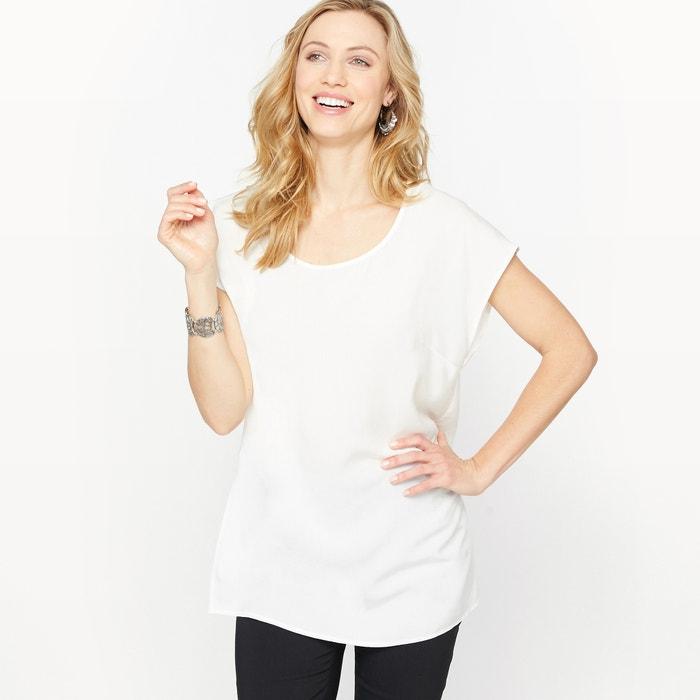 Short-Sleeved Tunic with Side Slits  ANNE WEYBURN image 0