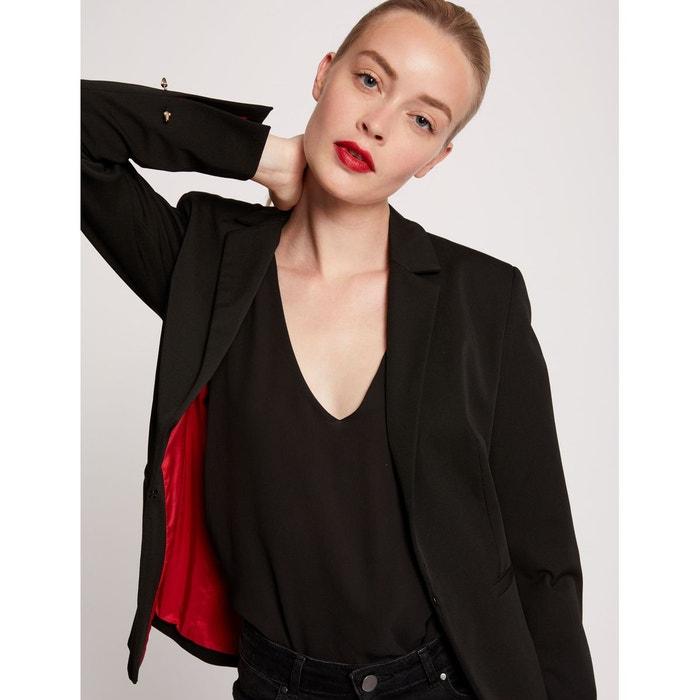 Veste blazer cintrée doublée noir Morgan   La Redoute e05b3f61196b
