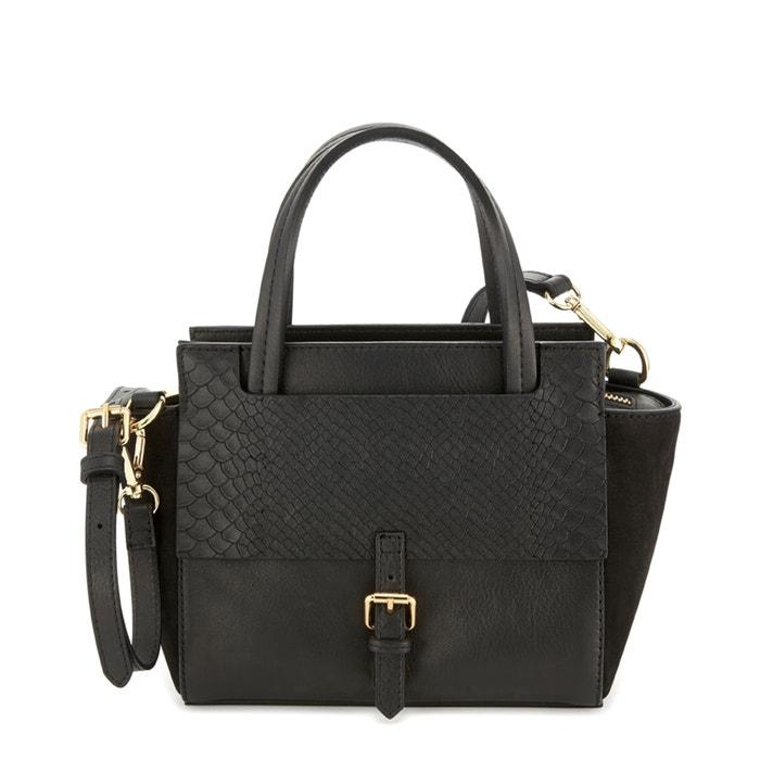 Leather Handbag with Python Print Detail  COSMOPARIS image 0