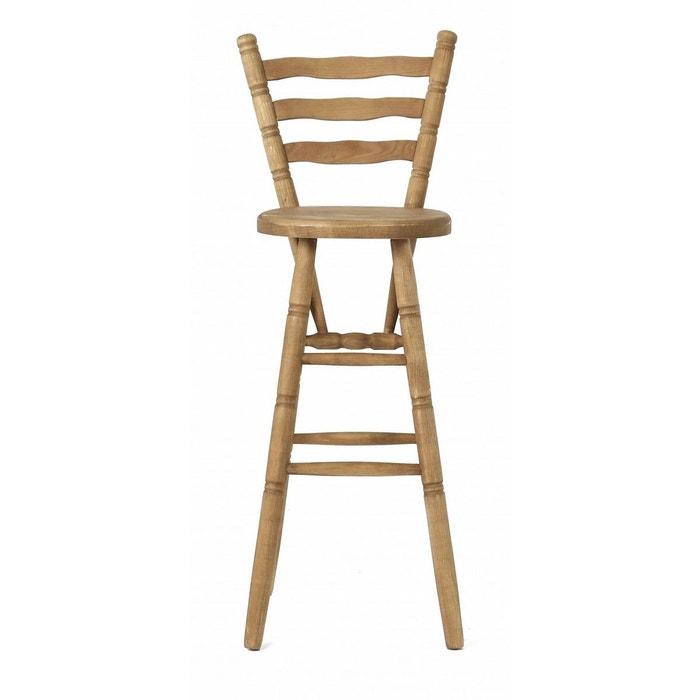 chaise de bar pin massif brut r gion miel couleurs des alpes la redoute. Black Bedroom Furniture Sets. Home Design Ideas