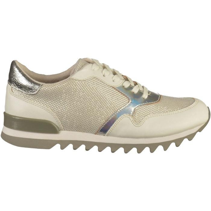 Sneaker blanc /argent Tamaris