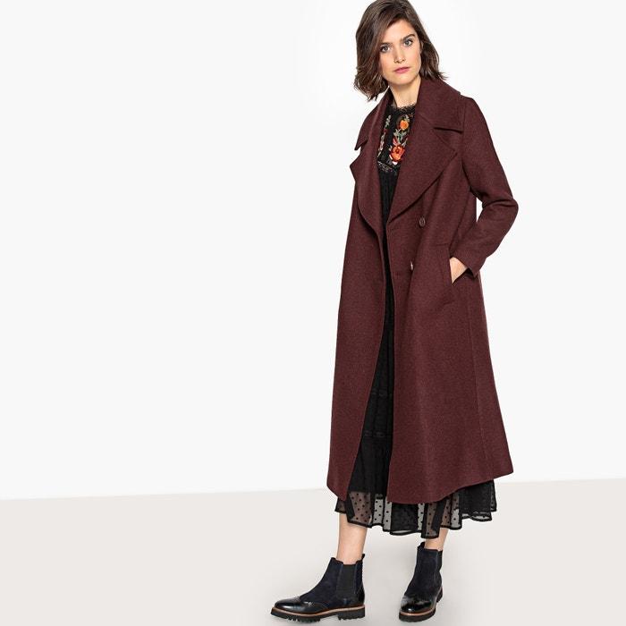 Cappotto lungo svasato in misto lana  La Redoute Collections image 0