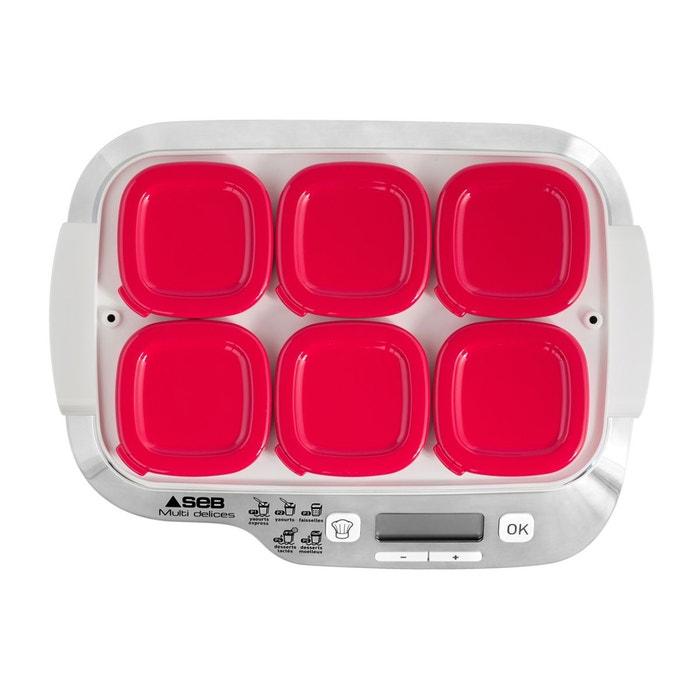 Yaourtiere Multi Delice Express Yg660100 Blanc Rouge Seb La Redoute