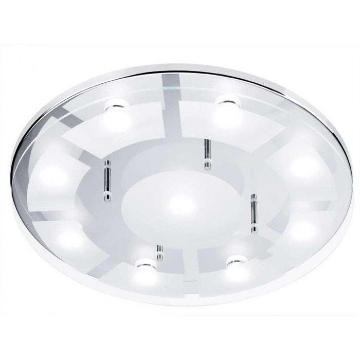 Plafonnier rond salle de bain 9 led azur bain blanc Millumine | La ...