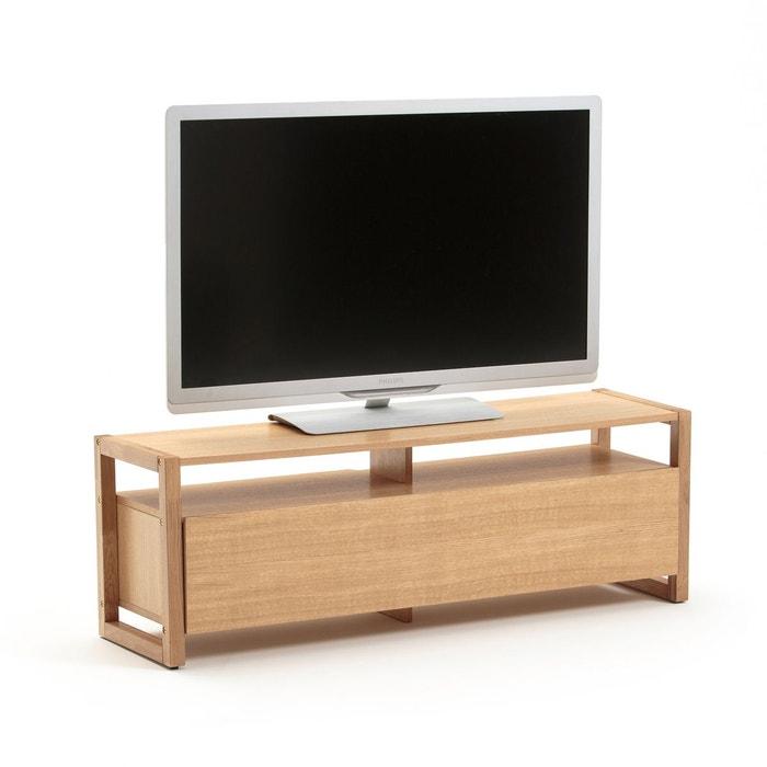 meuble tv arrondi bois great meuble tv design scandinave point ak noyer pieds bois avec embout. Black Bedroom Furniture Sets. Home Design Ideas