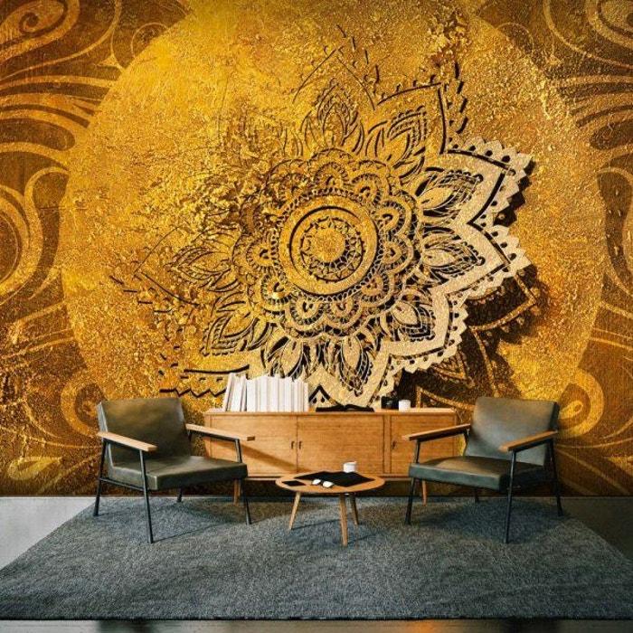 Papier Peint Xxl Golden Illumination Ii 700 X 280 Artgeist La Redoute