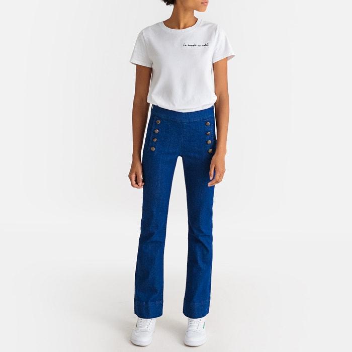 0f116d8000 Jeans bootcut denim vita alta blu La Redoute Collections | La Redoute