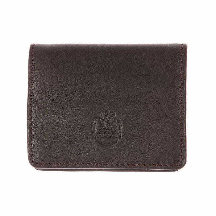 Porte-monnaie L'aiglon en cuir lisse marron 56K3yk61QM