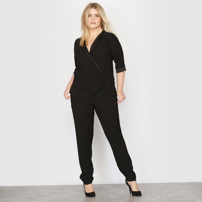 combinaison pantalon smoking noir castaluna la redoute. Black Bedroom Furniture Sets. Home Design Ideas